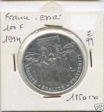 Ve REPUBLIQUE ESSAI DE LA 100 FRANCS ARGENT LIBERATION 1994 1,850 EXEMPLAIRES