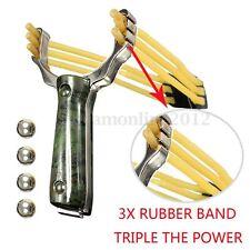 Professionale Fionda Slingshot Potente Caccia Catapulta Manico in Legno + 4 Ball
