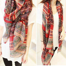 Vintage Women Lady Soft Long Neck Large Scarf Wrap Shawl Pashmina Stole Scarves