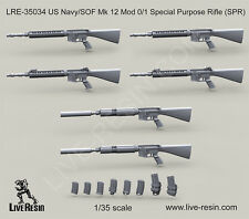 Live Resin 1/35 US Navy/SOF Mk.12 Mod 0/1 Special Purpose Rifle (SPR) LRE35034