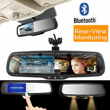 Car Mirror Monitor Auto Rear View Bluetooth OEM Bracket For RCA Backup Camera
