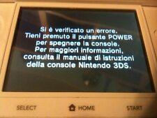 NINTENDO DS DSi 3DS SI E' VERIFICATO UN ERRORE TIENI PREMUTO IL TASTO POWER....