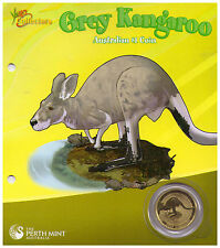 2008 $1 Uncirculated Perth Mint Coin On Card  - Grey Kangaroo