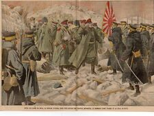 PORT ARTHUR CAPITULATION GENERAL STOESSEL TROUPES JAPONAISE IMAGE 1905 OLD PRINT