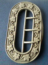 Large Art Nouveau Sterling Silver Buckle / Fashion Buckle h/m 1892