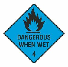 1x DANGEROUS WHEN WET warning Sticker for Safety Door Bumper Laptop Tablet PC