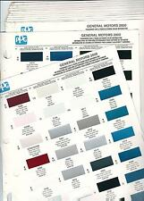 2000 GM CHEVROLET PONTIAC CADILLAC BUICK OLDSMOBILE PAINT CHIPS PPG