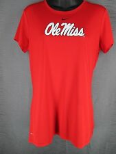 NIKE Dri-Fit Red Ole Miss Short Sleeve Atheltic T-Shirt Women's Large L Fitness
