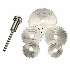 HSS Circular Saw Disc Set Dremel Mini Drill Rotary Tool Cutting Blade Accessorie