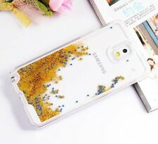 Samsung Galaxy Note 3 -HARD SKIN CASE COVER Flowing Sparkle Liquid Glitter Stars