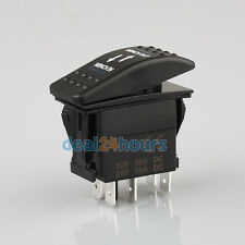 Dual Blue LED BACKLIT Rocker Switch ON-OFF IIluminated Winch In Out 4WD 12V 4X4