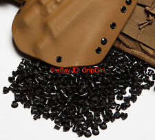 "25x #8-8 1/4"" Black Rivets Eyelets Custom DIY Kydex Holster Hardware .08-.093"