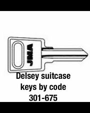 2 X DELSEY suitcase keys cut to code / number 301-675