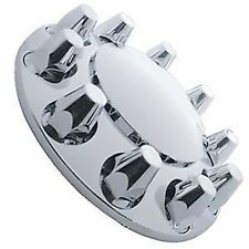 Chrome Semi Truck Front Axle Wheel Cover with Hub Cap 33mm Lug Nuts