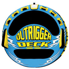 Airhead Outrigger Inflatable Triple Rider Boat Lake Towable Deck Tube | AHOU-3
