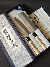 "2 PCS Japanese ""Shimomura"" Brand Chef's Kitchen ""Hocho"" Knife Set Made in Japan"