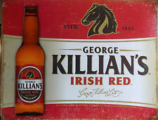 PLAQUE METAL PUBLICITAIRE usa vintage BIERE KILLIAN'S IRISH RED - 40 X 30 CM