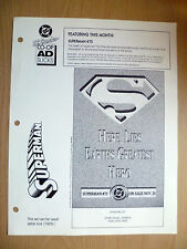 DC COMIC FLYER- SUPERMAN NO 75, HERE LIES EARTHS GREATEST HERO, ADVERT FLYER