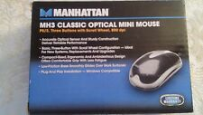 Manhattan MH3 Classic Optical mini mouse PS/2 three buttons with scroll wheel