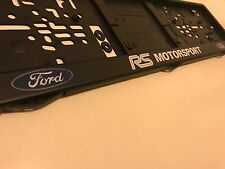 Ford RS Motorsport Number Plate Surrounds x2 Cosworth Escort Sierra Turbo