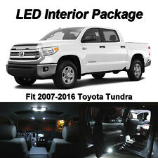 19 x 2007-2016 Toyota Tundra White SMD LED Interior Kit + License Plate Lights