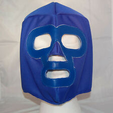 Blue SOLID Lucha Libre Wrestling Mask NEW Luchador wwe tna Halloween Costume