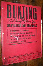c1940 BUNTING STANDARD CAST BRONZE BEARINGS SLEEVE TYPE VINTAGE CATALOG