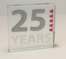 25th Silver Wedding Anniversary Spaceform 25 Years of love Token Gift ideas 1333