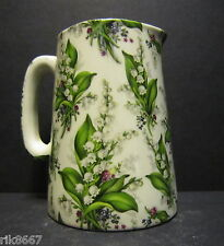 Heron Cross Pottery Lilly Of The Valley Chintz English 1/2 Pint Milk Jug