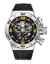 CAT DS49 Men's Chronograph Watch Black Dial Silicone Strap DS14321127