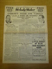 MELODY MAKER 1935 APR 13 AMBROSE HOWARD JACOBS HENRY HALL BIG BAND SWING