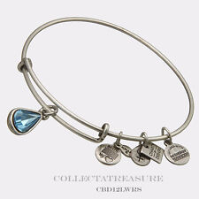 Authentic Alex and Ani Living Water Russian Silver Charm Bangle CBD