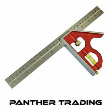 "Faithfull Adjustable Carpenters Combination Set Square Right Angle 16"" - 400mm"