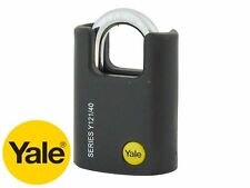 YALE HIGH SECURITY CLOSE SHACKLE PADLOCK 40mm BORON JACKET PROTECTIVE CASING