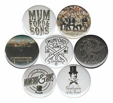 Mumford & Sons set of 7 Pins Buttons Babel Wilder Mind Marcus and Ben Lovett