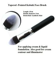 Kabuki Tapered Face Brush Pointed Make Up Professional Foundation Powder Black