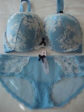 Victoria's Secret Dream Angels 36DD perfect coverage bra + M bikini panty set