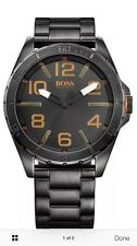 Men's Black Hugo Boss Orange Berlin Oversized Watch 1513001
