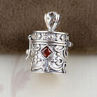 s58 925 STERLING SILVER Cremation Jewelry memorial CASKET Ash Pendant Urn