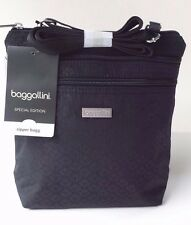 Baggallini Special Edition Zipper Bag/Crossbody Bag in Black Blossom (SALE!)