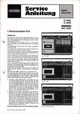 Service Manual-Anleitung für Grundig C 4100, C 4500, MC 4500