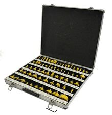 "ROUTER BITS SET - 66 piece 1/2"" shank CARBIDE Aluminum Case NEW"