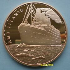 "RMS Titanic ""In memory of Titanic"" coin Gold Plated 1oz"