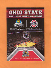 2013-14 NCAA BASKETBALL THE OHIO STATE UNIVERSITY GAME POCKET  SCHEDULE