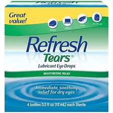 Refresh Tears Lubricant Eye Drops Multi-Pack 4 Plus1 Bonus, Moisture Dry Eyes