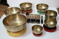 Chakra Healing Tibetan Singing Bowl Set of 7 Hand Hammered Himalayan Meditation
