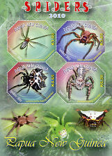 Papua New Guinea 2010 MNH Spiders 4v M/S Insects Holconia Ocrisiona