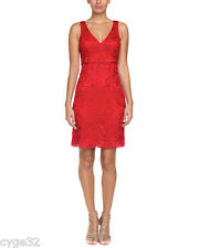 BRAND NEW SUE WONG RED BEADED SHORT FORMAL COCKTAIL PARTY EVENING DRESS 6 NWT