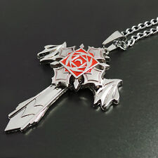 Anime Vampire Knight silver Rotatable pendant Metal Necklace Charm Cosplay Gift