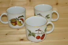 "Royal Worcester Evesham Gold-(3) Child's Cup Mugs 2 7/8""- -Made in ENGLAND"
